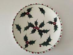 Lefton China Holly et Candy Cane plaque Noël vacances vaisselle Noël assiettes Decor hiver Noël plats