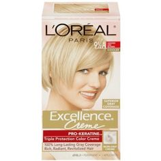L'Oreal Paris Excellence Creme With Pro-Keratine Complex, Lightest Ash Blonde 9.5A (Pack of 3) >>> Read more reviews of the product by visiting the link on the image.