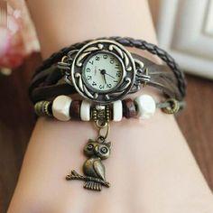 Relógio coruja pulseira marrom: http://corujatanastore.blogspot.com/2017/04/relogio-coruja-pulseira-marrom.html