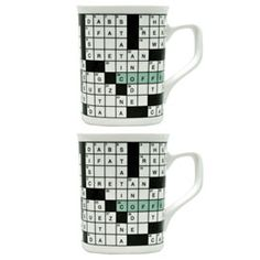 Pair of NY Times crossword mugs from Fishs Eddy $21.90 for Peggy