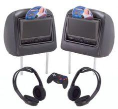Aftermarket Volvo XC90 Accessories | Volvo XC90 XC70 Rosen Rear Seat DVD Headrests...