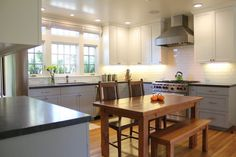 Image result for kitchens with different color cabinets