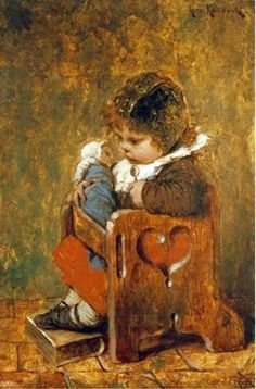 Hermann Kaulbach ~The Favourite Doll.....And My Favourite Child's Chair.
