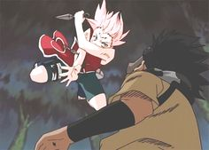 Haruno Sakura <3 I loved this scene because it was where her change began