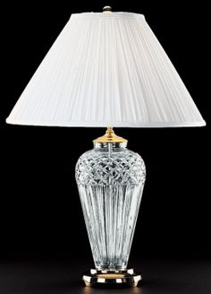 ... Waterford Crystal Belline Pattern Table Lamp traditional table lamps