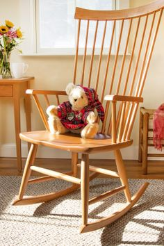 Windsor Rocking Chair, Real Hardwood Furniture Made In Vermont. Traditional  Country Shaker Style. CUTE!