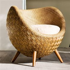 Model Rattan Chair Casual that are Modern Nan Elegant Indoor Wicker Furniture, Cane Furniture, Bamboo Furniture, Unique Furniture, Furniture Design, Bamboo Sofa, Deck Furniture, Office Guest Chairs, Lounge