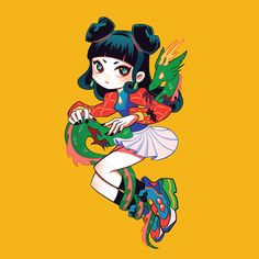 """C A M 🐉 在 Instagram 上发布:""""🐲🐉✨ new sticker design coming soon~"""" New Sticker, Sticker Design, Disney Characters, Fictional Characters, Disney Princess, Instagram, Art, Kunst, Fantasy Characters"""