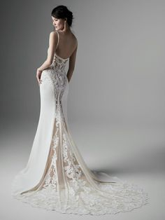 Designer wedding dresses Brisbane City and Chermside with brands such as Pronovias & Maggie Sottero. Gorgeous bridal and bridesmaid dresses Brisbane! Crepe Wedding Dress, Sheath Wedding Gown, Wedding Dress Train, Sexy Wedding Dresses, Designer Wedding Dresses, Bridal Dresses, Wedding Gowns, Bridesmaid Dresses, Sottero And Midgley Wedding Dresses