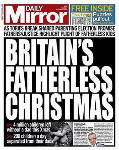 ΣΥΓΑΠΑ ΗΜΑΘΙΑΣ: 4 εκατομμύρια παιδιών, στο Ηνωμένο Βασίλειο δεν θα έχουν τον πατέρα τους για τα Χριστούγεννα (1 εκατομμύριο στην Ελλάδα)