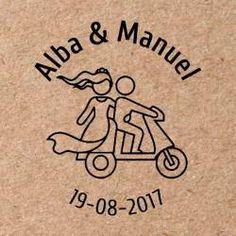 Sello para boda Moto 2 Wedding Logos, Ideas Para, Scrapbook, Events, Embroidery, Logo, Drawings, Wedding Stamps, Custom Stamps