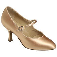 white satin ballroom dance shoe