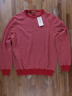 auth LUCIANO BARBERA red striped cashmere sweater - Size XL / 52 EU - NWT | Clothing, Shoes & Accessories, Men's Clothing, Sweaters | eBay!