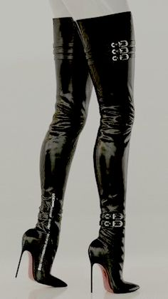 Thigh High Boots Heels, Stiletto Boots, Hot High Heels, Heeled Boots, Leather Tights, High Leather Boots, Stilettos, Pumps, Look Fashion