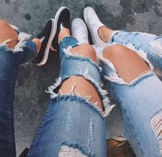 jeans, fashion, and girl Bild