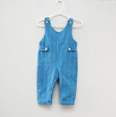 Vintage checked overalls