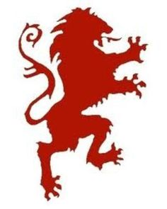 The lion on the Narnian Flag. :D  Put some of this emblem on a flag banner to place around the castle.