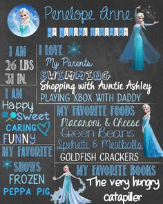 Frozen CHOOSE YOUR CHARACTER Birthday by LittleMooseDesigns