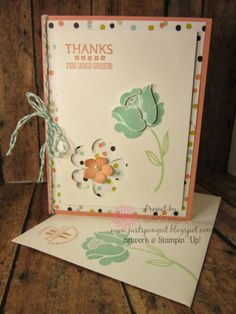 Simple Stems, Just for You Card, Sweet Sorbet dsp, Pansy Punch, Petite Petals Punch, Gorgeous Grunge stamp set, http://justspongeit.blogspot.com/2014/03/simple-stems-just-for-you-card.html