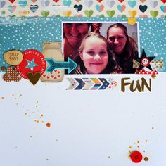 "Andrine og Marens Landhandleri - Blog - ""FUN"" layout created by Dt Bente. Scrapbooking Layouts, Playing Cards, Polaroid Film, Create, Blog, Fun, Scrapbook Page Layouts, Scrapbook Layouts, Playing Card"