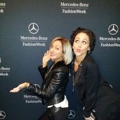 Me and Alexa hair and makeup at Mercedes Benz fashion week in nyc backstage