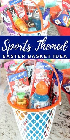 Basketball Net Easter Basket Idea for Teen Boys Fill with your favorite basket . Basketball Net Easter Basket Idea for Adolescent Boys Fill your favorite basketball and sports snacks for eve Easter gifts Cheap Easter Baskets, Boys Easter Basket, Easter Bunny, Teen Fun, Teen Boys, Easter Crafts For Kids, Crafts For Teens, Easter Projects, Easter Decor