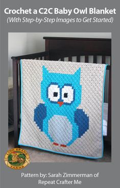 This C2C Baby Owl Blanket is easier than you think! Get the step by step tutorial and for a limited time save 20% on the yarn for this project! Coupon code valid thru 11/22/15.