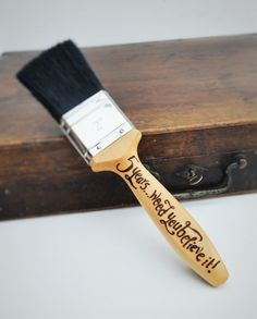 Personalised decorating paintbrush  5th by CoveCalligraphy on Etsy