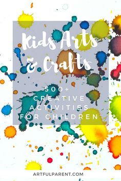Over 500 kids arts and crafts activities! Painting techniques, sculpture projects, drawing and collage ideas, suncatcher crafts, and more! Art Activities For Toddlers, Creative Activities For Kids, Creative Kids, Craft Activities, Preschool Crafts, Diy Crafts For Kids, Arts And Crafts, Craft Ideas, Elderly Activities