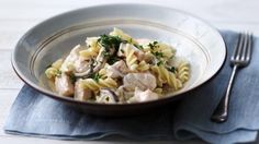 BBC Food - Recipes - Creamy pasta with salmon