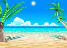 More than a million free vectors, PSD, photos and free icons. Exclusive freebies and all graphic resources that you need for your projects Episode Backgrounds, Summer Backgrounds, Beach Background, Cartoon Background, Strand Clipart, Beach Cartoon, Art Plage