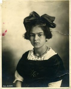 Frida Kahlo at age 12 in 1919