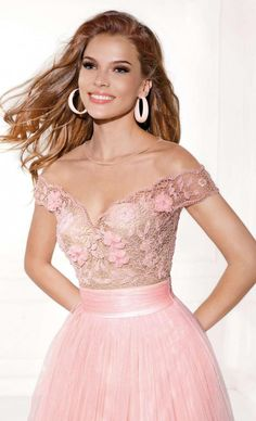 $145.89-Beautiful Beaded V-Neck Tulle Pink Long Off the Shoulder Prom Dress with Open Back. http://www.ucenterdress.com/a-line-beaded-v-neck-tulle-prom-dress-with-flower-pMK_303351.html.  Free Shipping & Free Custom Made! Buy cheap prom dresses, party dresses, night dresses, maxi dresses, little black dresses, junior prom dresses, girls prom dresses, designer prom dresses for sale. We have great 2016 prom dresses on sale at #UcenterDress.com today!