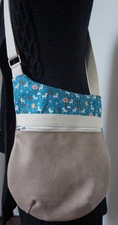 Le sac bandoulière Be-Bop de Virginie - Patron de couture Sacôtin