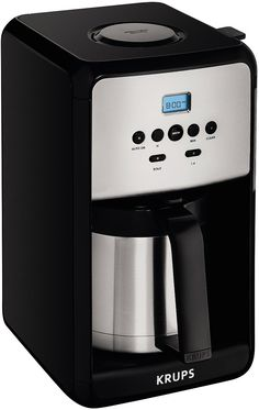 KRUPS ET351 SAVOY Programmable Thermal Stainless Steel Filter Coffee Maker Machine with Bold and 1-4 Cup Function 12-Cup