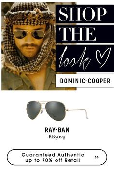 Shop an exclusive style that stands out with ray-ban men's aviator sunglasses Dominic Cooper, Ray Ban Rb3025, Ray Ban Men, Sunglasses Shop, Get The Look, Eyeglasses, Eyewear, Ray Bans, Classic