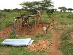 The chicken coop will be located adjacent the classrooms at Bisil school.  The classes will manage and care for the chicks!