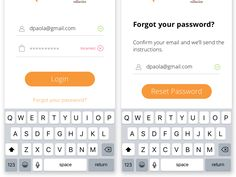 Login error and forgot password screens by Daniel de Paola Reset Password, Forgot Your Password, Mobile App Ui, Screen Design, Ux Design, Vr, Computer Keyboard, Screens, Messages