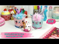DIY- HAZ TUS PORTALAPICES KAWAII CON BOTES RECICLADOS. Resolución sorteo Lazy Cat - YouTube