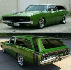 1968 Dodge Charger customized into a one of a kind station wagon