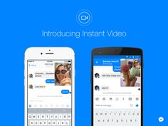 We're excited to launch Instant Video on iOS and Android, letting you to put a smile on the faces of those people who matter most in your life. Facebook Messenger, Appel Video, Social Networks, Social Media, Facebook Platform, Communication, Applications Android, Innovation, Android