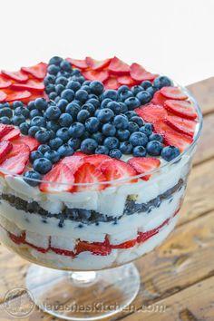 Strawberry Blueberry Trifle - WomansDay.com