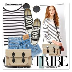 """Leathersatchel"" by leathersatchel ❤ liked on Polyvore featuring The Leather Satchel Co. and Converse"
