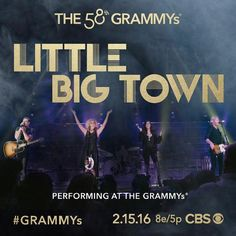 Tune in to CBS on Monday, Feb. 15 to see Little Big Town perform at the 58th ‪#‎GRAMMYs‬!