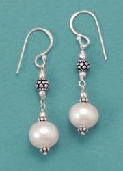 Pearls, Bali Style Bead Earrings.  $27.99 #bali #jewelry #pearls #earrings #sterling #silver     http://www.silvermessages.com/sterlingsilverjewelry/category/bali-jewelry.html