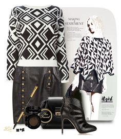 """""""Geometric Pattern"""" by fashion-architect-style ❤ liked on Polyvore featuring Rebecca Minkoff and DKNY"""