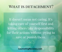 Here you'll learn how to stop the suffering and restore sanity for you and your family. You're tired of living with an addict but can't leave. It's so painful and you don't know what else to do. There is a solution. You can regain your sanity by practicing detachment.