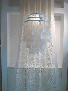 Capiz Deckenleuchte Muschellampe Leuchte rund - 60 cm, weißer 3-stufiger Kranz: Amazon.de: Beleuchtung