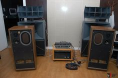 IMF PM III - famous british transmission line speakers with KEF drivers.