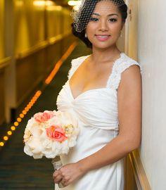 Photographer: Charles Leonio of FreshStartCollective Hair: Michelle Lopez (hairbymichlopez)  #hair #makeup #wedding #bride #weddingdress #hairbymichlopez #updo #blackhair #asianhair
